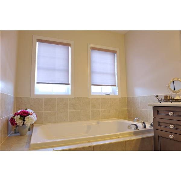 Sun Glow 69-in x 72-in Cinder/Grey Privacy Roller Shade with Valance