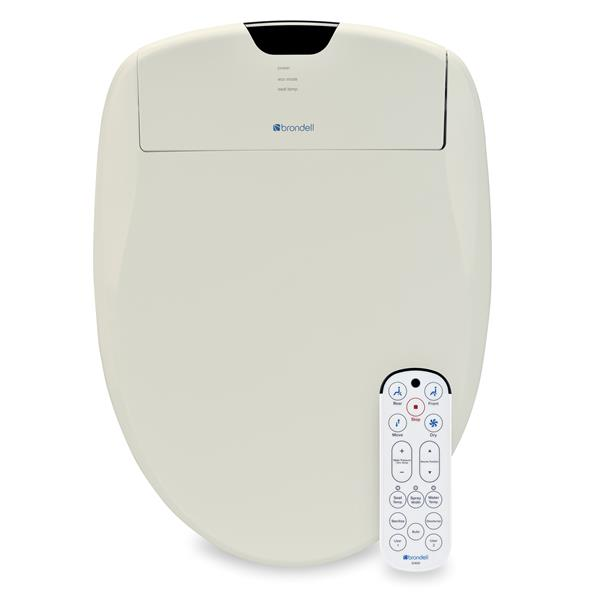 Brondell Swash 1400 Bidet Seat 15.2-in x 20.43-in Biscuit