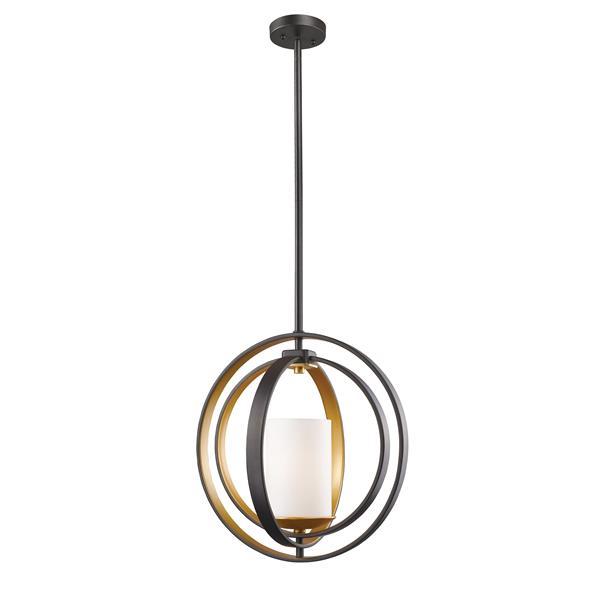 """Petit luminaire à 1 lumière Ashling, 14,13"""", bronze doré"""