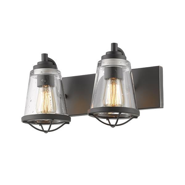Applique pour salle de bain Mariner, 2 lumières, bronze