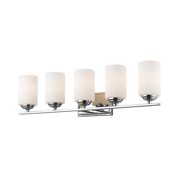 Applique pour salle de bain Bordeaux, 5 lumières, chrome