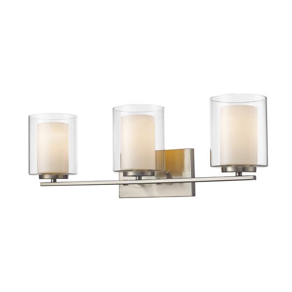 Z lite applique salle de bain willow 3 lumières nickel brossé 426