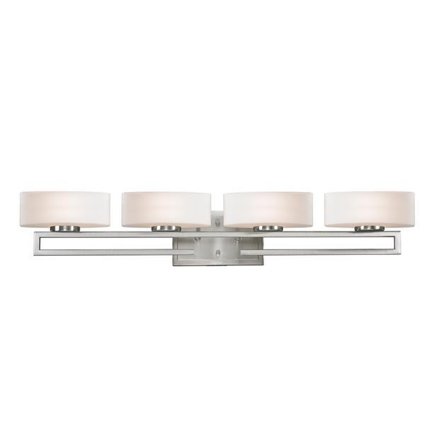 Z-Lite Cetynia Brushed Nickel 4 Light Bathroom Vanity Light
