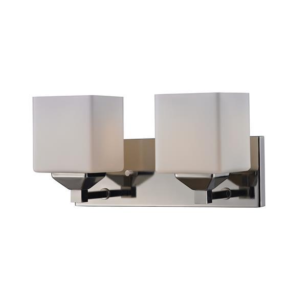 Applique pour salle de bain Quube, 2 lumières, chrome