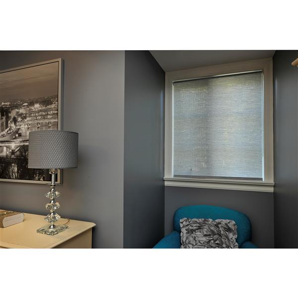 Sun Glow 35-in x 72-in Grey Woven Roller Shade