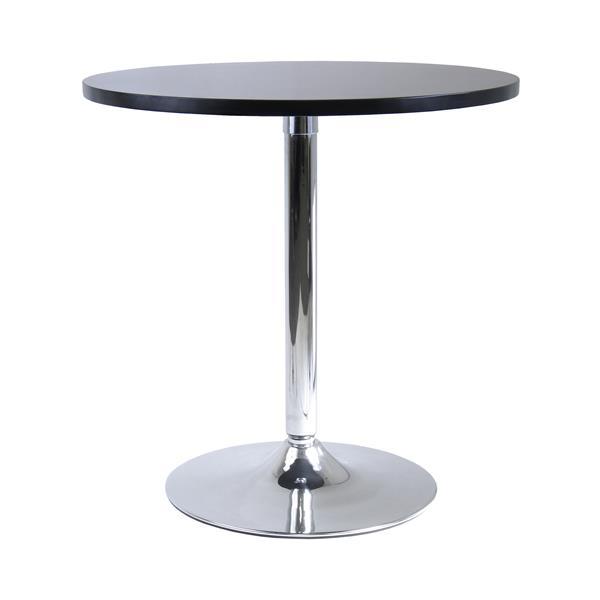 """Table à manger Spectrum, 28,74"""" x 29,5"""", composite, noir"""
