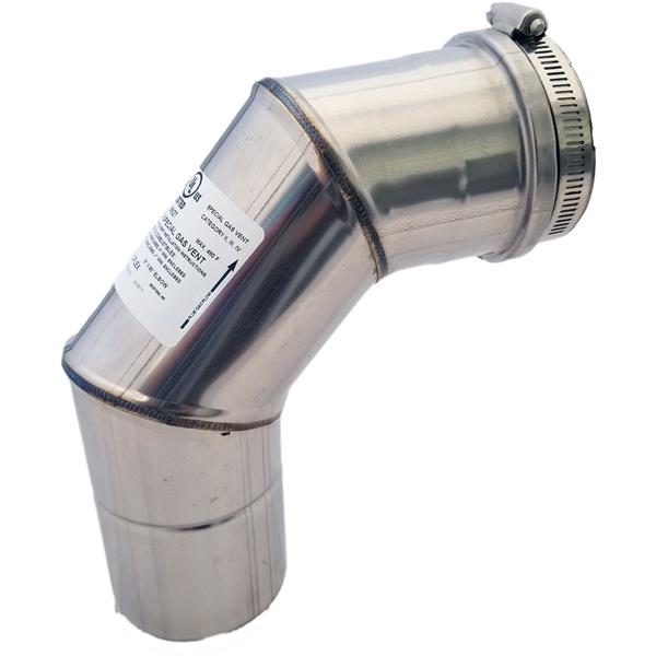 Z-Flex Z-Vent 3-in 90° Stainless Steel Elbow