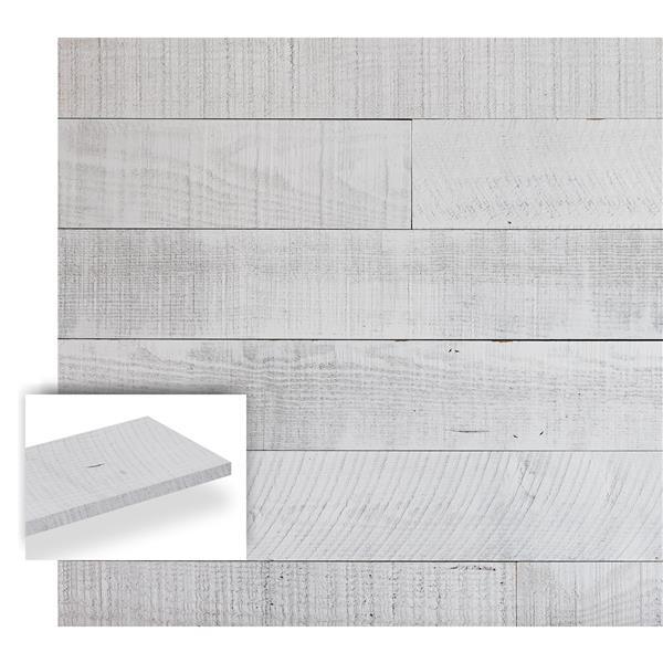 Timberwall 3/8-in x 4-in Barnwood Seashore White Appearance Board