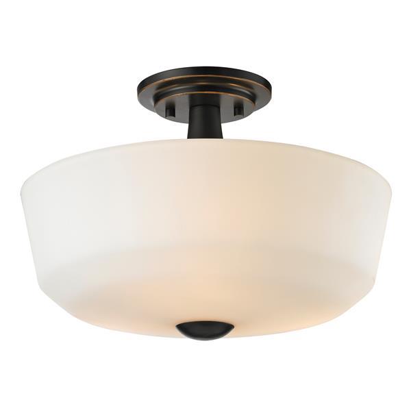 Semi-plafonnier Montego, 3 lumières, Bronze Cuivré