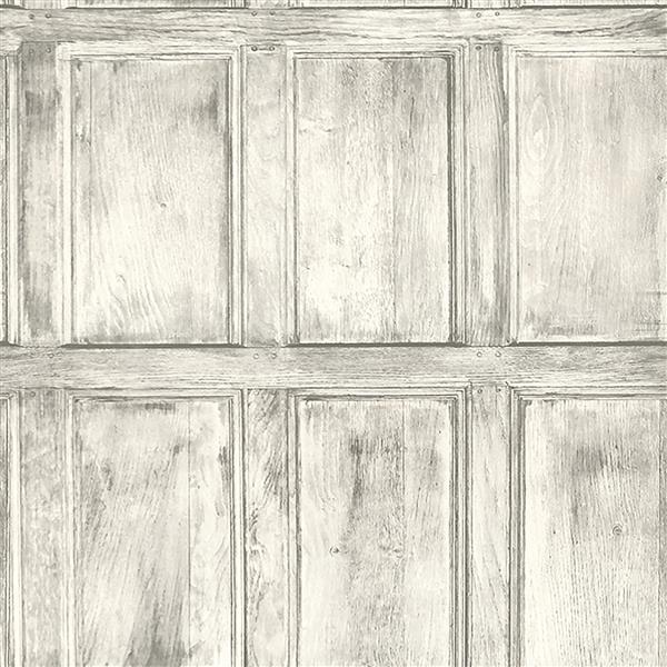Brewster Wallcovering White/White Common Room Wainscotting Wallpaper 20.5-in
