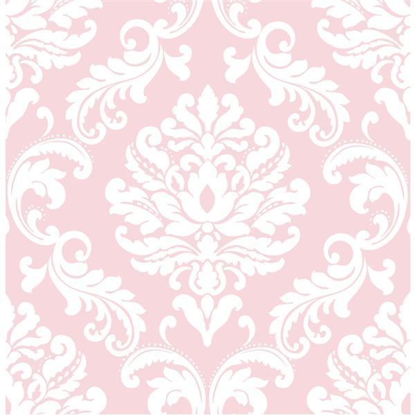 "Ariel Sticker Wallpaper - 20.5"" x 216"" - Pink"