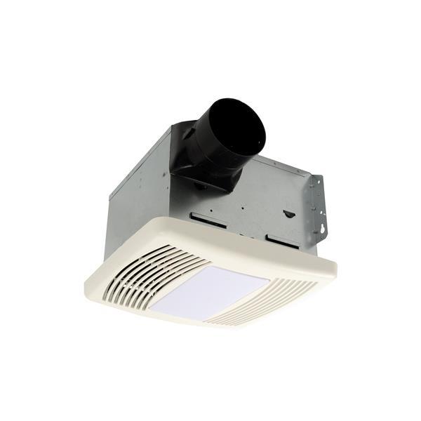 Cyclone Hushtone Bath Fan with Light and Humidistat - 110 CFM