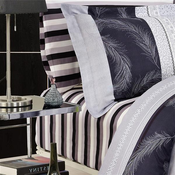 North Home Bedding Brighton 220-Thread Count Cotton Multiple Colours Queen Sheet Set