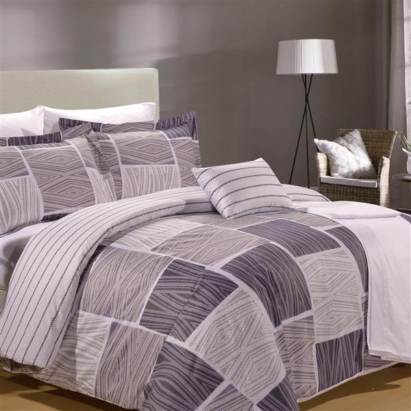 North Home Bedding Zigzag King 8-Piece Duvet Cover & Sheet Set