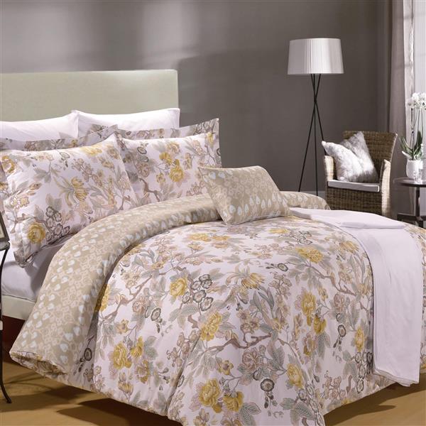 North Home Bedding Adele Queen 8-Piece Duvet Cover & Sheet Set