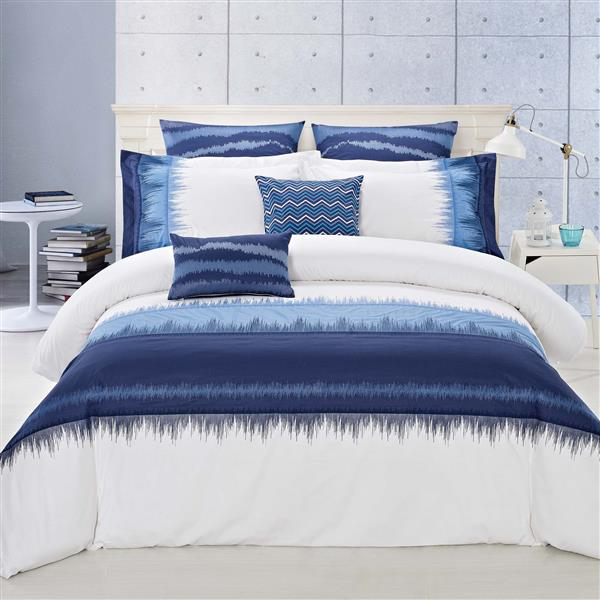 North Home Bedding Indigo Queen 7 Piece Duvet Cover Set Indigo00dcqn