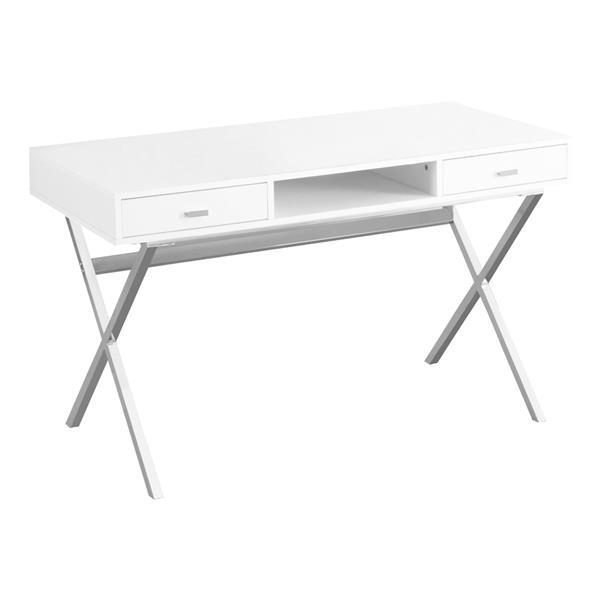 Monarch  29.25-in x 47.25-in White Computer Desk