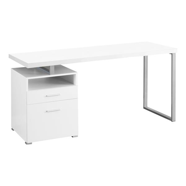 Monarch  30-in x 60-in White Computer Desk