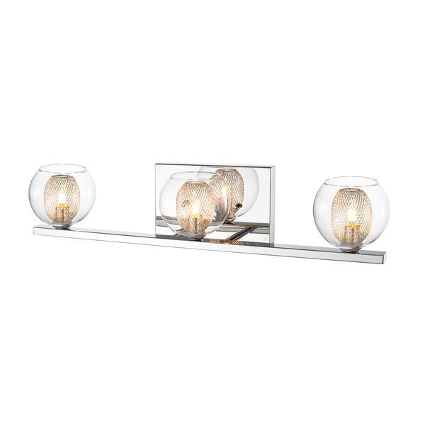 Applique à 3 lumières pour salle de bain Auge, chrome
