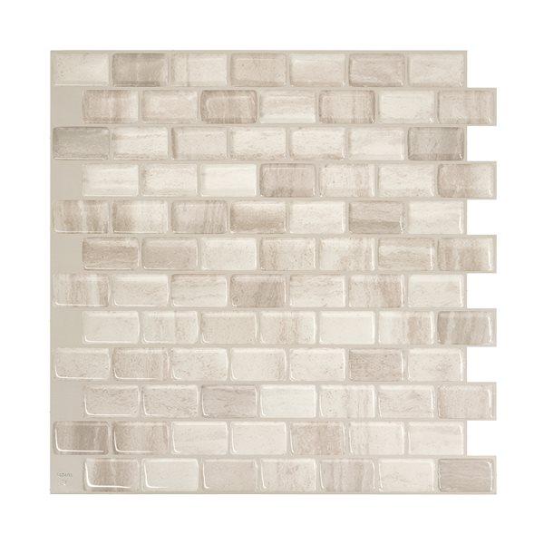 Smart Tiles Ravenna Farro Beige Wall Tiles (4-Pack)