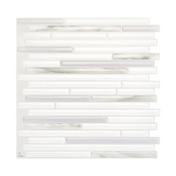 Smart Tiles Capri Addario 10-in x 10-in Grey Wall Tiles (4-Pack)