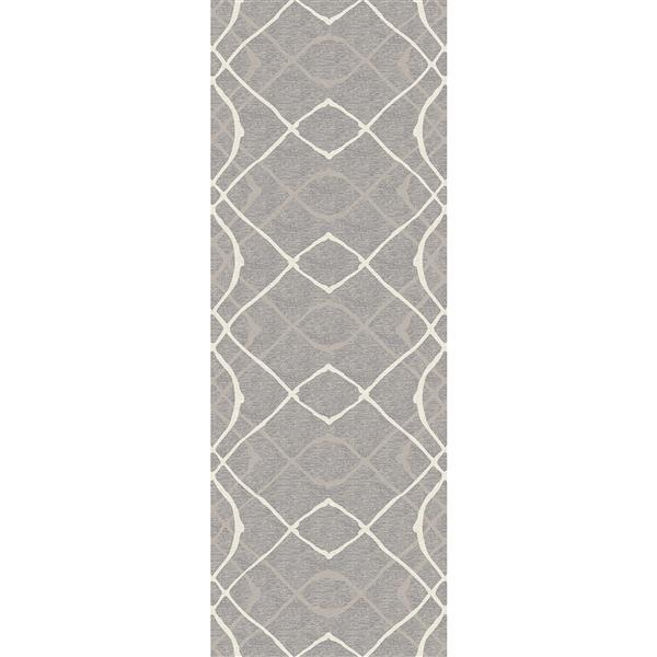 Tapis Amara Ruggable Intérieur/Extérieur, 2.5'x7', Gris