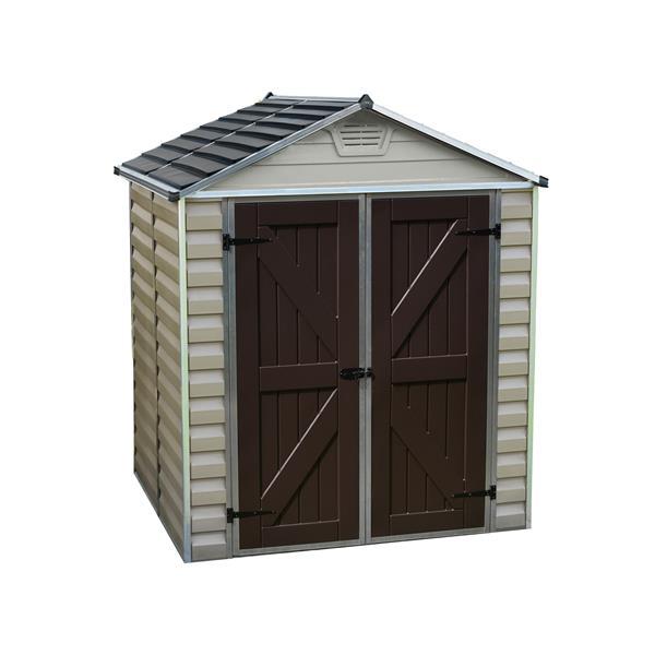 Palram 6-ft x 5-ft Beige Storage Shed