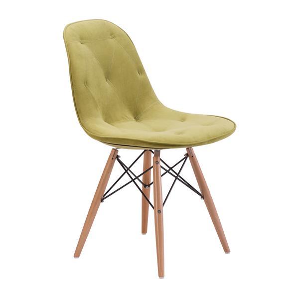 Zuo Modern Probability 19 In Green Velvet Dining Chair 104156 Réno