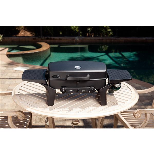 """Barbecue portatif au gaz Camden, 37"""", aluminium, noir"""