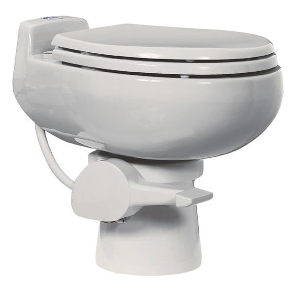 Sun-Mar White Ceramic Ultra-Low-Flush Toilet