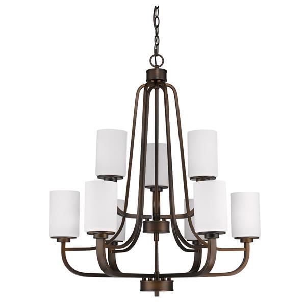 Acclaim Lighting Addison 9-Light 32.5-in Bronze Chandelier