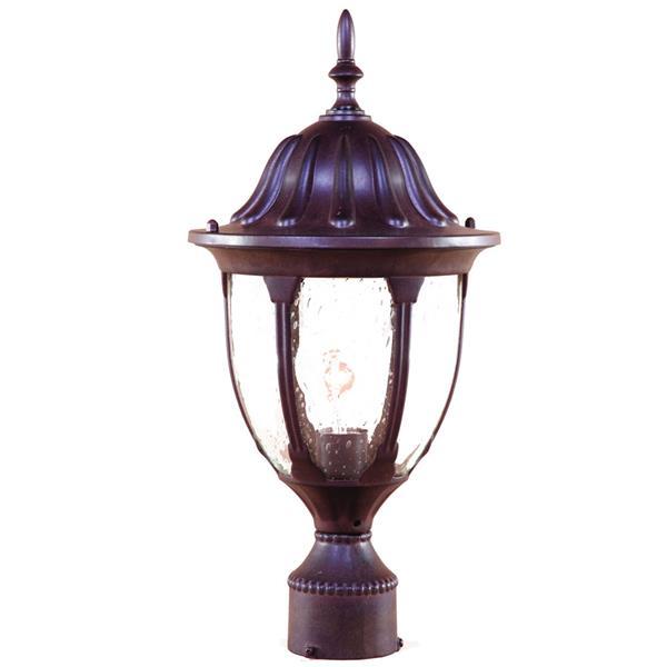 Lanterne extérieure Suffolk , 1 ampoule, aluminium, brun