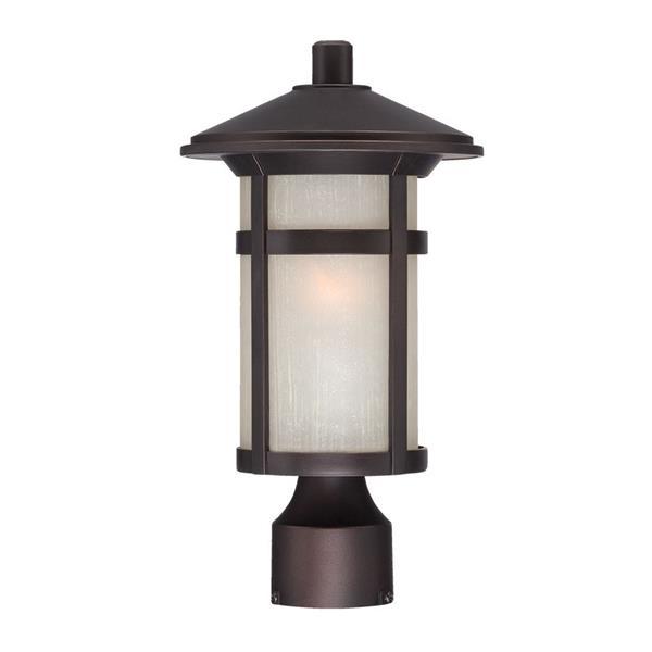 Lanterne extérieure Phoenix , 1 ampoule, MarbleX, bronze