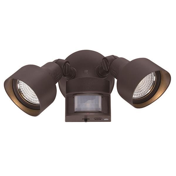 Lumière de sécurité DEL avec détecteur, bronze