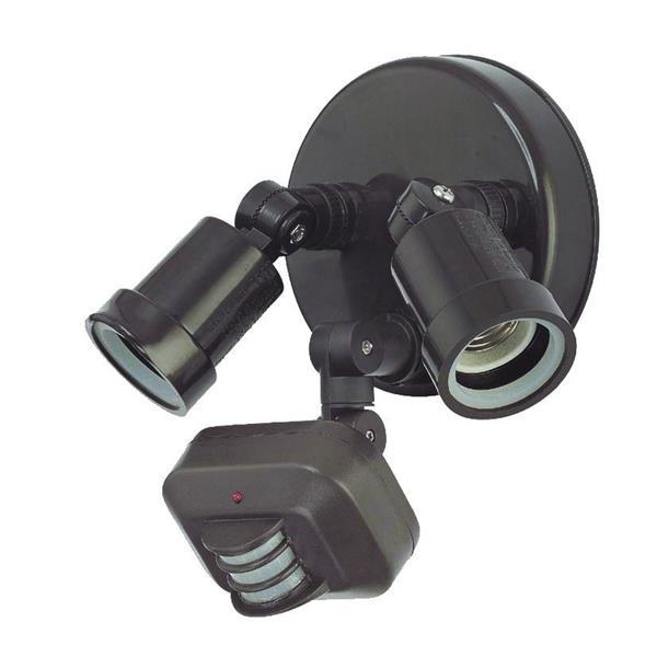 Lumière de sécurité double à détection, bronze