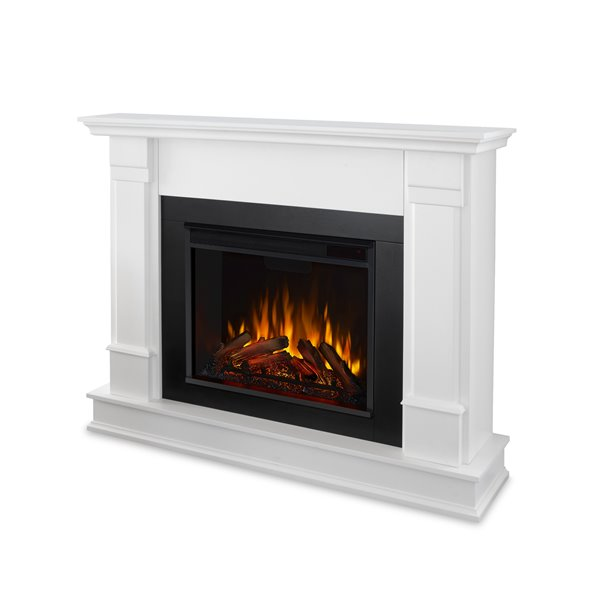 """Foyer électrique Silverton de Real Flame, 48"""", blanc"""