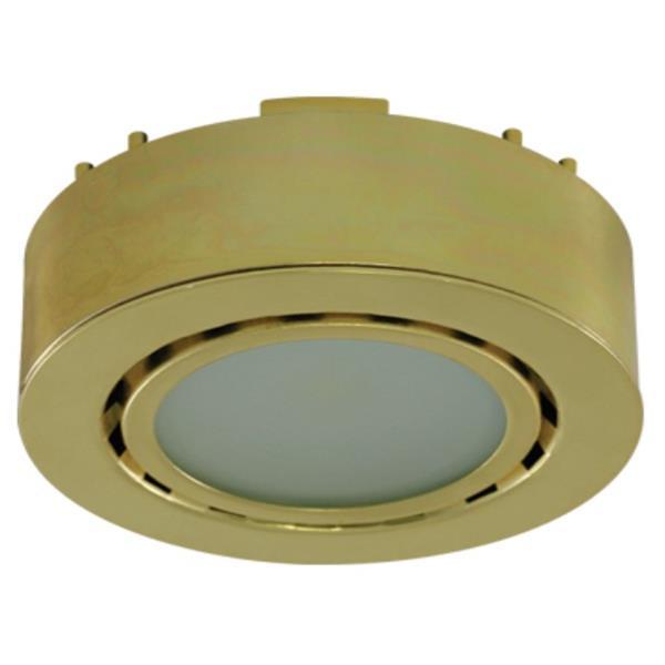 Liteline Corporation 4K 12V 2W Polished Brass LED Single Puck Light