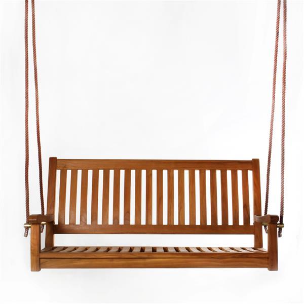 All Things Cedar 26-in x 54-in Brown Teak Swing