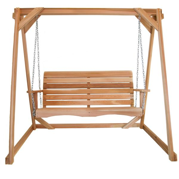 All Things Cedar  4-ft Natural Swing