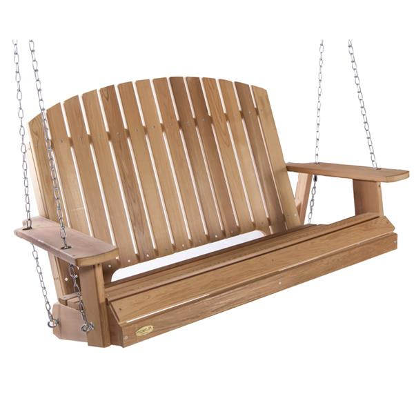 All Things Cedar 35-in x 52-in Natural Pergola Garden Swing