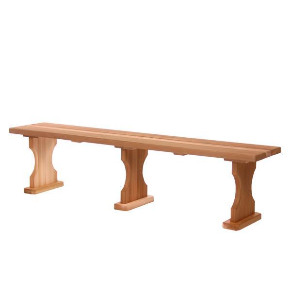 All Things Cedar 70-in x 14-in x 18-in Cedar Backless Bench