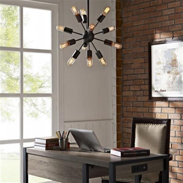 Warehouse of Tiffany Herrick 12-Light Chandelier,LD4106