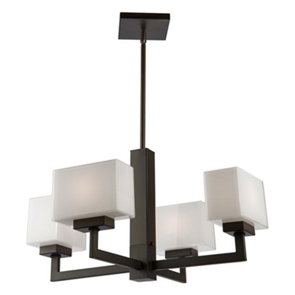 Cube Light 4-Light Chandelier - Oil Rubbed Bronze