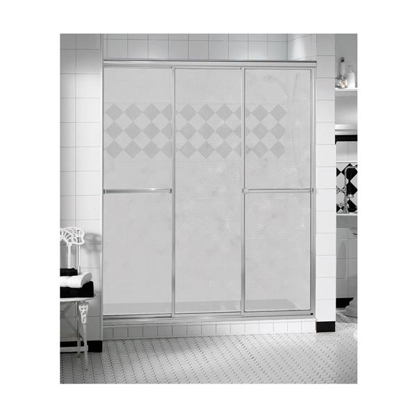 MAAX TriplePlus 41-43-in x 69-in Shower Door in Polished Chrome/Hammer