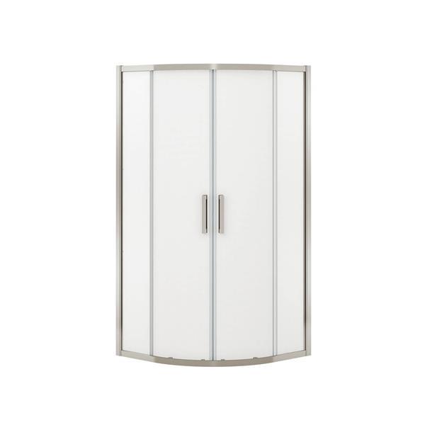 MAAX Radia Neo-Round 36-in x 72-in Nickel Mistelite Shower Door