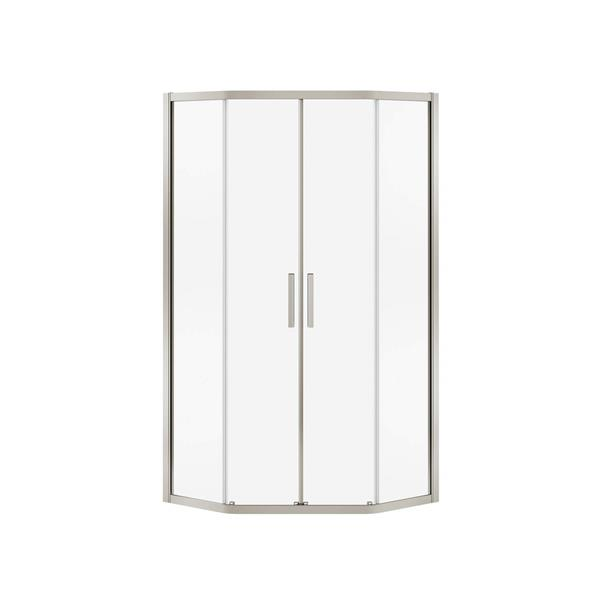 MAAX Radia Neo-Angle 38-in x 72-in Nickel Clear Shower Door