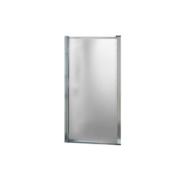 Maax Pivolok 23-25-in x 65-in Chrome Raindrop Shower Door