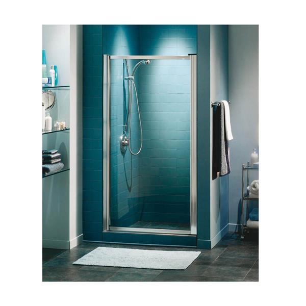 Maax Pivolok Clear 21-23-in x 65-in Chrome Shower Door