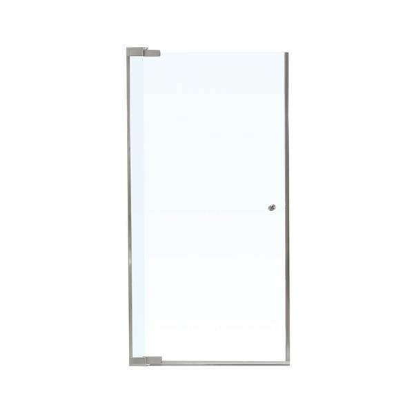 MAAX Kleara 28-30-in x 69-in Nickel Clear 1-Panel Shower Door