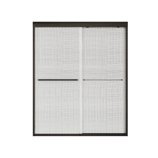 MAAX Aura 55-59-in x 71-in Dark Bronze Linen Shower Door
